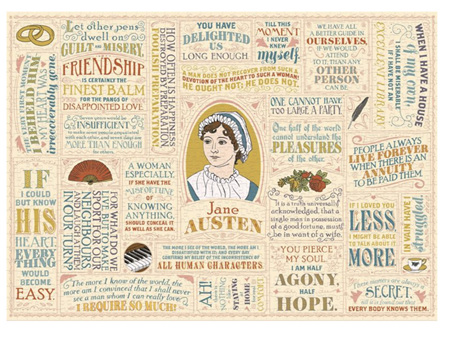 The Unemployed Philosophers Guild Jane Austen Literary Lines 1000 Piece Puzzle