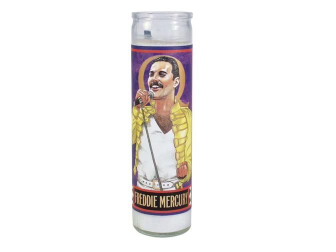 The Unemployed Philosophers Guild Secular Saints Candle - Freddie Mercury