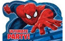 The Unltimate Spiderman Party Invites x 8