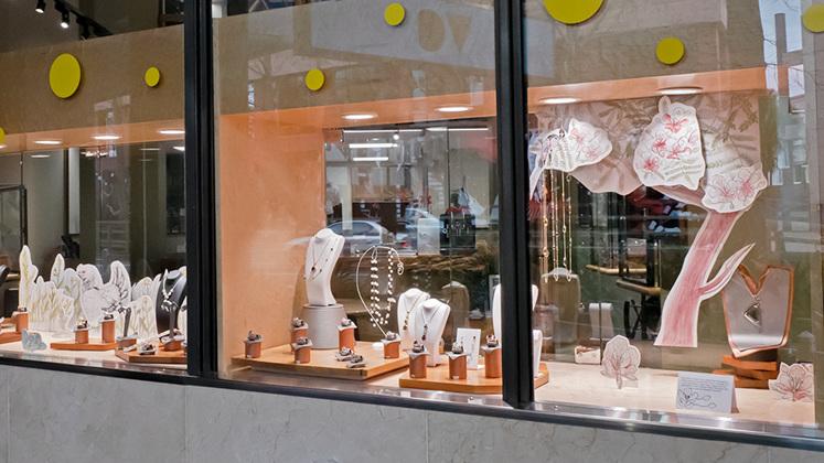 The Village Goldsmith Gemstone and Diamond Provenance Window Display