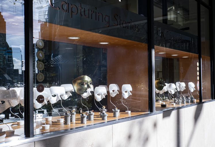 The Village Goldsmith's Mask Window Display