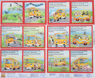 The Wheels on the Bus Book Panel