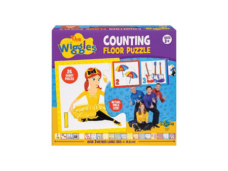 The Wiggles Counting Floor Puzzle