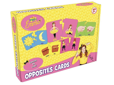 The Wiggles Emma Opposites Cards 24 Ages 3+