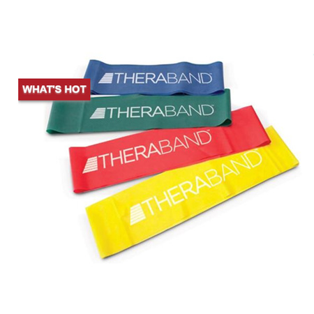 THERABAND EXERCISE BAND LOOP, YELLOW, THIN 45.7CM