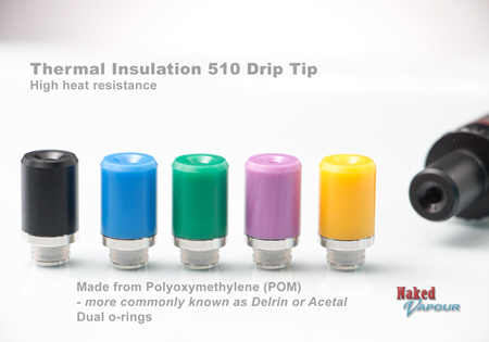 Thermal Insulation 510 Drip Tip
