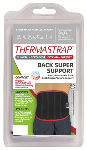 Thermastrap Back Super Supp Std Size