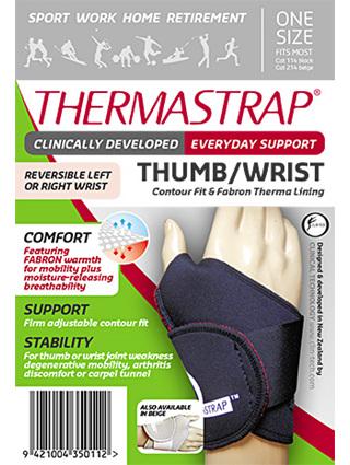 Thermastrap Thumb/Wrist Blk