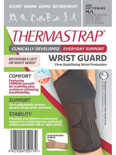Thermastrap Wrist Grd Blk Med/Lge