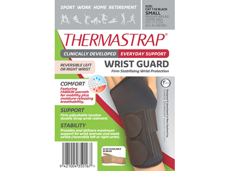 Thermastrap Wrist Grd Blk Sml