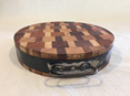 Thick Round Chopping Board with steel band and handle