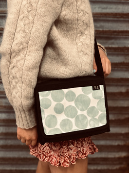 This bag is a Kelpie satchel small but not too small for everyday use.
