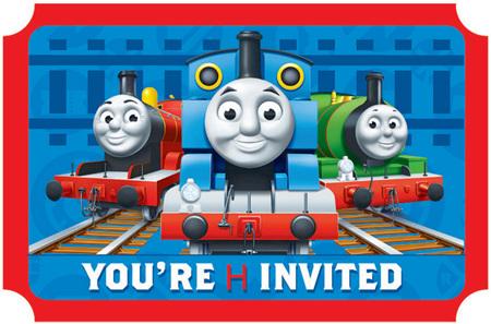 Thomas & Friends invites x 8