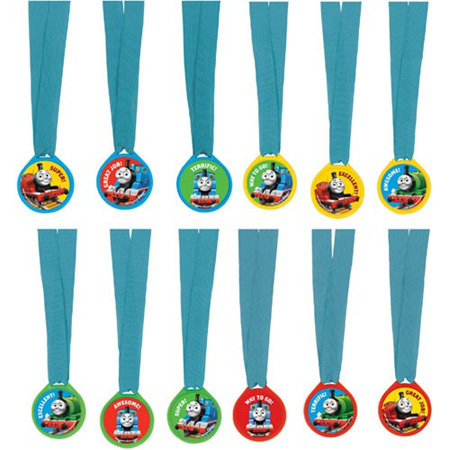 Thomas & friends medals and ribbons favors x 12