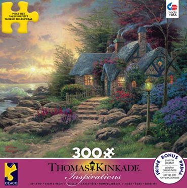 Ceaco 300 Piece Large Piece Jigsaw Puzzle: THOMAS KINKADE - HIDEAWAY