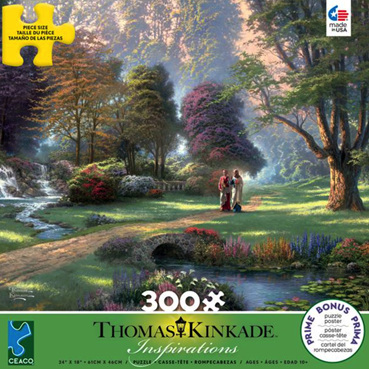 Ceaco 300 Large Piece Jigsaw Puzzle: THOMAS KINKADE - WALK OF FAITH