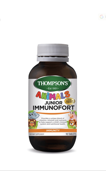 Thompson's Junior Immunofort is a unique blend of vitamins, minerals and nutrien