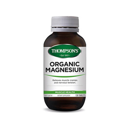 Thompsons Nutrition Organic Magnesium - 30 Tablets (120 tablets in picture)