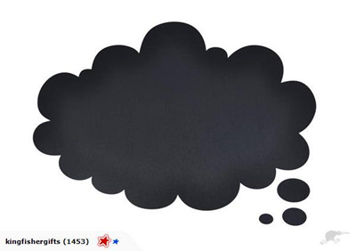 Thought Bubble - Blackboard Wall Decal