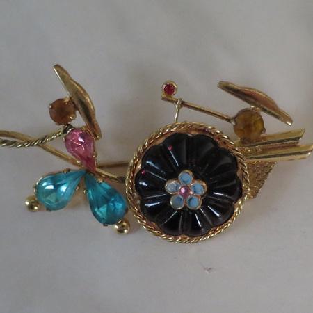 Three interesting vintage brooches