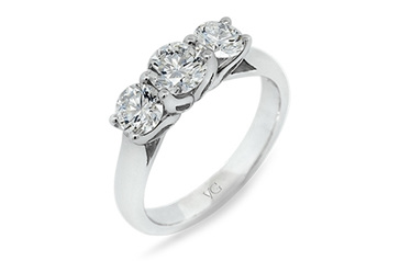 Three-Stone Rings