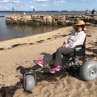 Three Wheel Beach Wheelchair