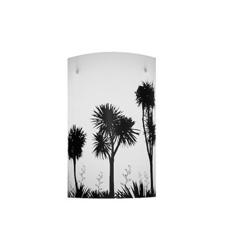 Tī kōuka, Cabbage Tree Light  Shade - Black Silhouette