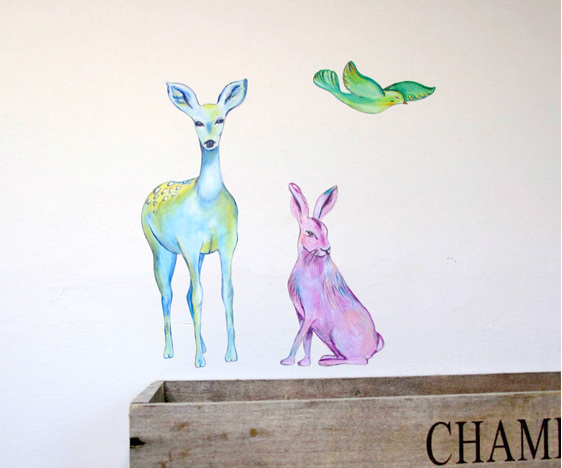 Tia and the Forest Keepers wall decal