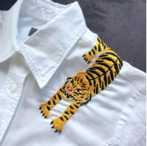 tiger embroidered shirt