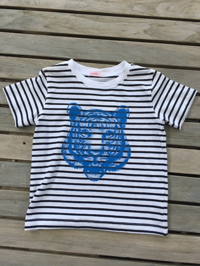 Tiger stripped top Tee