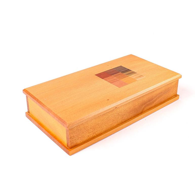 Timber Art Chequer Trinket Box Medium - Kauri