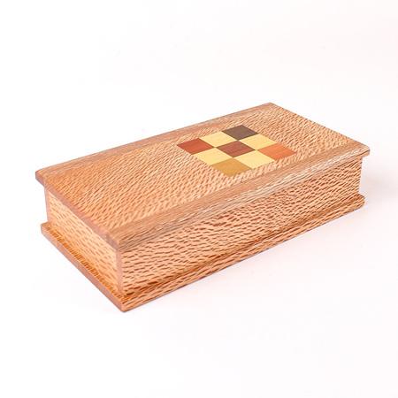 Timber Art Chequer Trinket Box Medium - Rewarewa