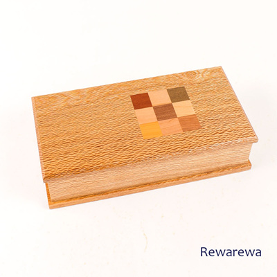 Timber Art Chequer Trinket Box Rewarewa