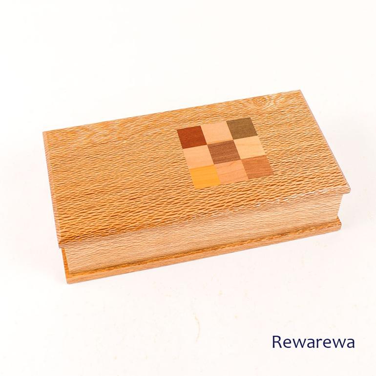 Timber Art Chequer Trinket Box Rewarewa