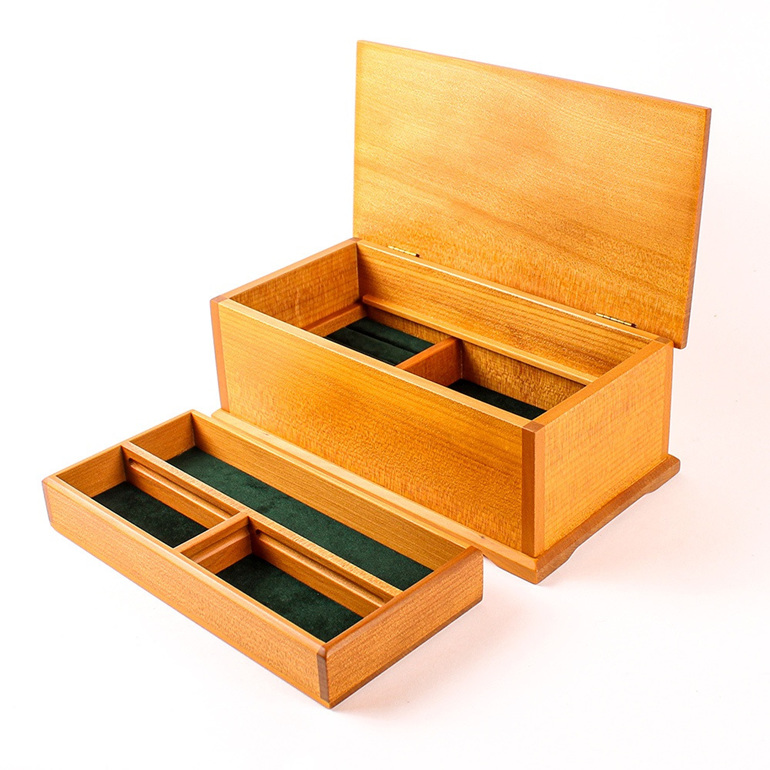 Timber Art Jewellery Box with Lift-out Tray
