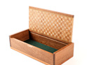 Timber Art Trinket Box with Patterned Lid