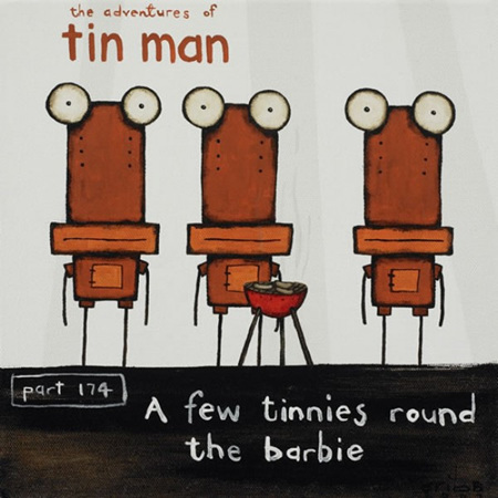 Tin Man - A few tinnies round the barbie Black box frame