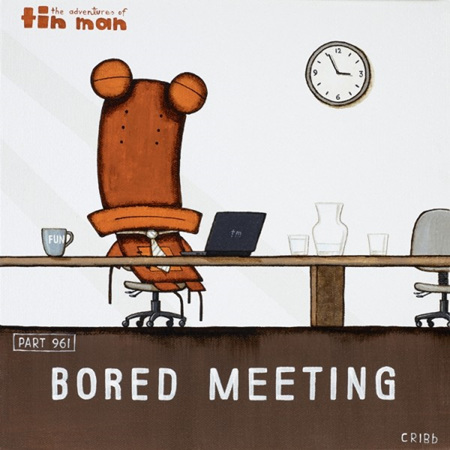 Tin Man - Bored Meeting Black Box Frame