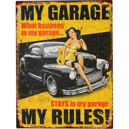 TIN SIGN MY GARAGE 25X33cm