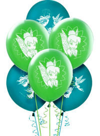 Tinkerbell & the Pixie Hollow Games - 6 x latex balloons