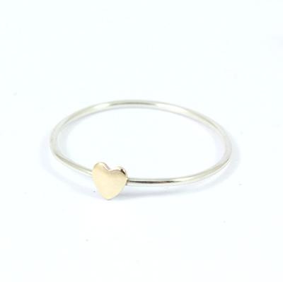 Tiny Brass Heart Ring