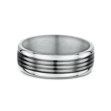 Titanium and 9ct Gold Men's Wedding Ring