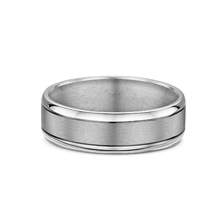 Titanium and 9ct Gold Mens Wedding Ring