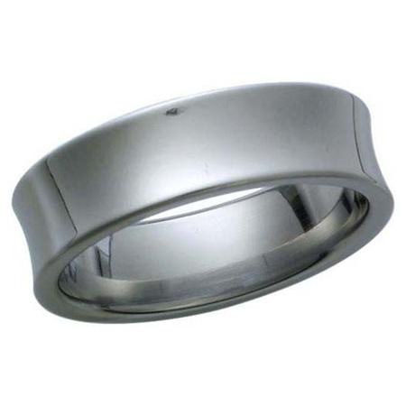 Titanium Concave Ring