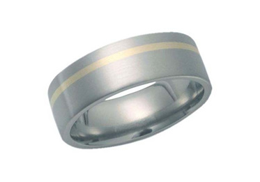 Titanium Gold Ring
