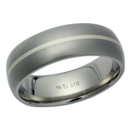 Titanium Silver Ring