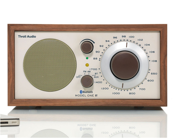 Tivoli Model One bluetooth radio in walnut/beige from Totally Wired