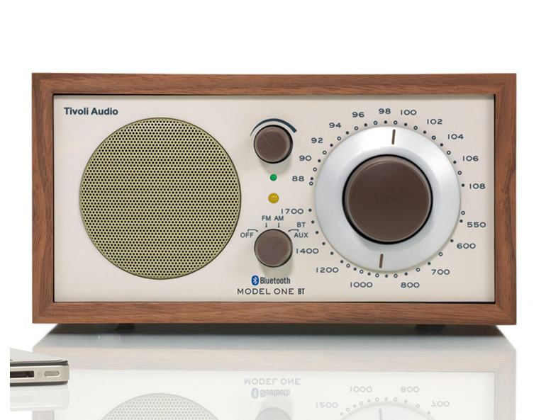 Tivoli Model One bluetooth radio in walnut/beige from Totally Wired