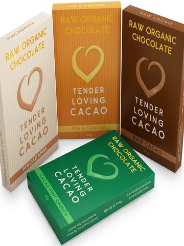 TLC Organic Raw Chocolate (Mint Cacao Crunch) - 45g
