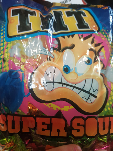 TNT sour chews - 1kg bag - super sour!